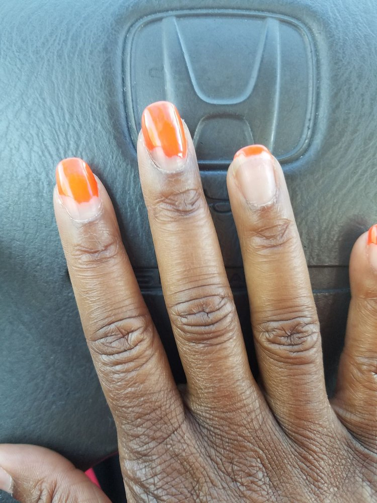 My nails after ONE week, gel polish - Yelp