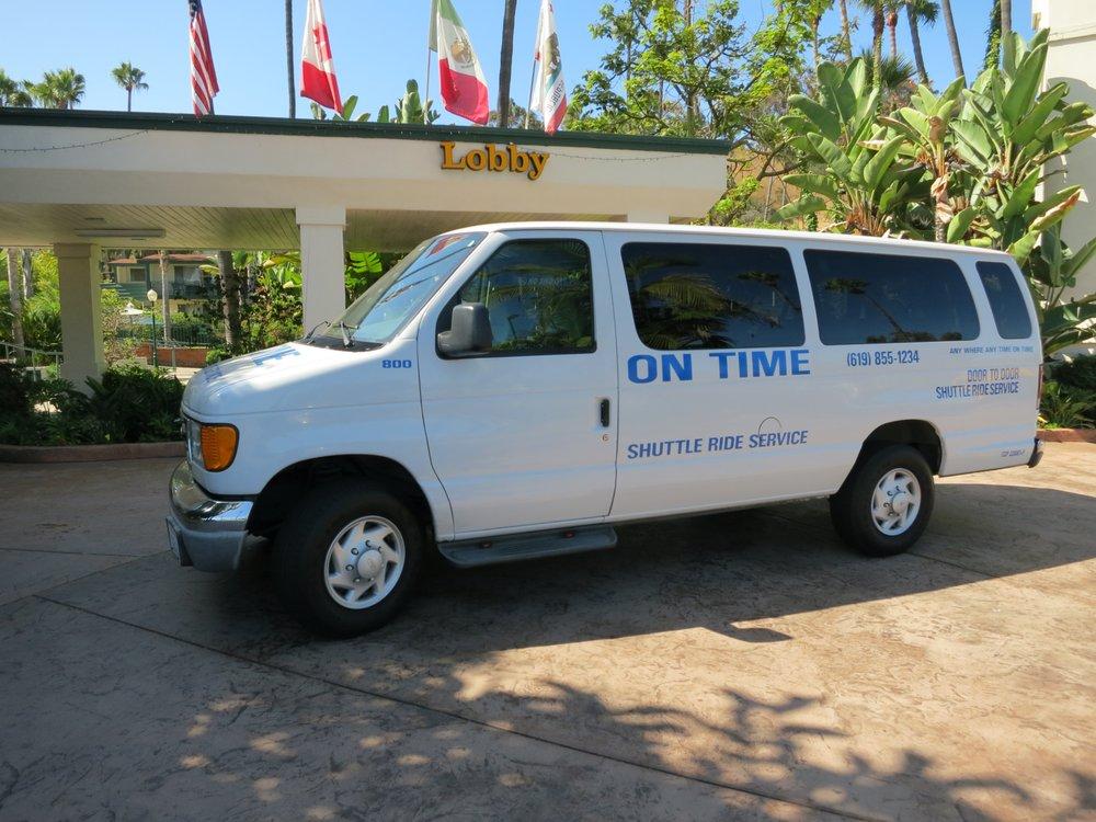 On Time Shuttle Ride: 1621 Hotel Cir S, San Diego, CA