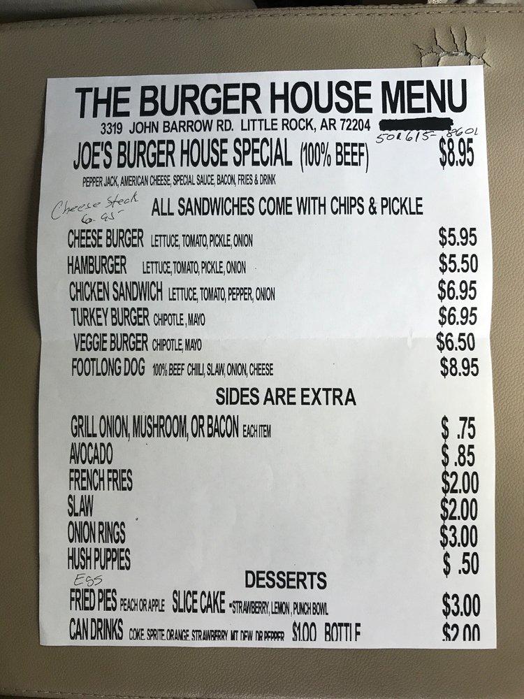 The Burger House: 3319 John Barrow Rd, Little Rock, AR