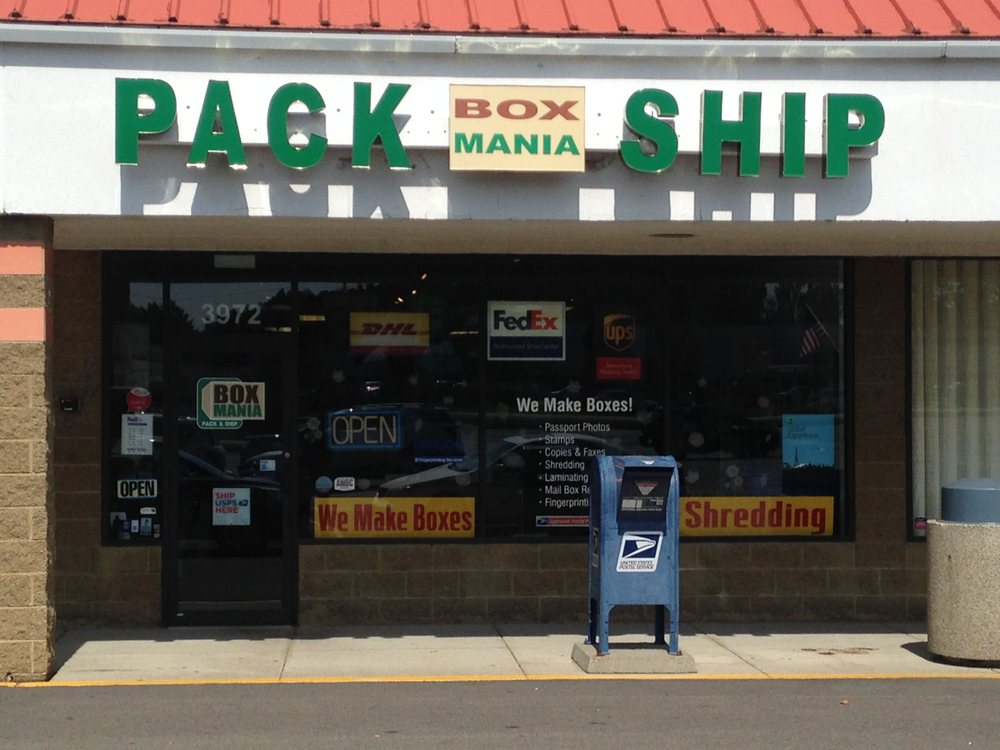 Box Mania Pack & Ship: 3972 Vineyard Dr, Dunkirk, NY