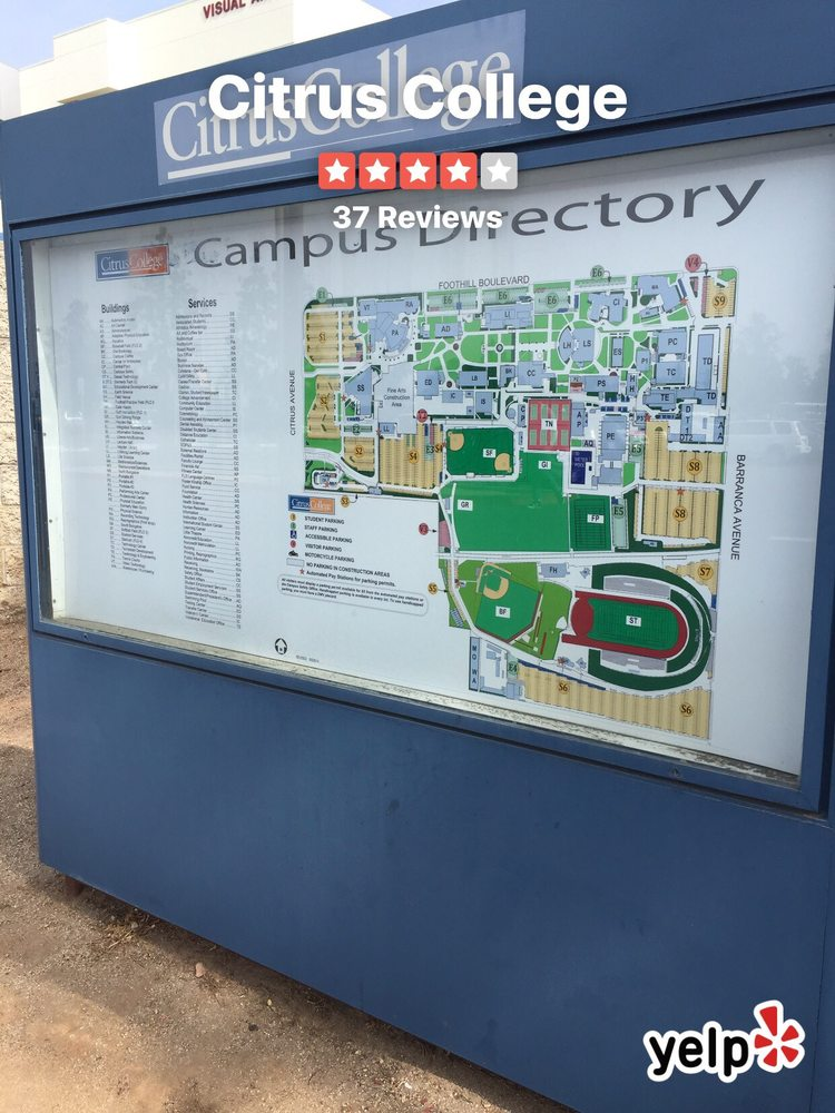 Campus directory and map of Citrus College - Yelp on