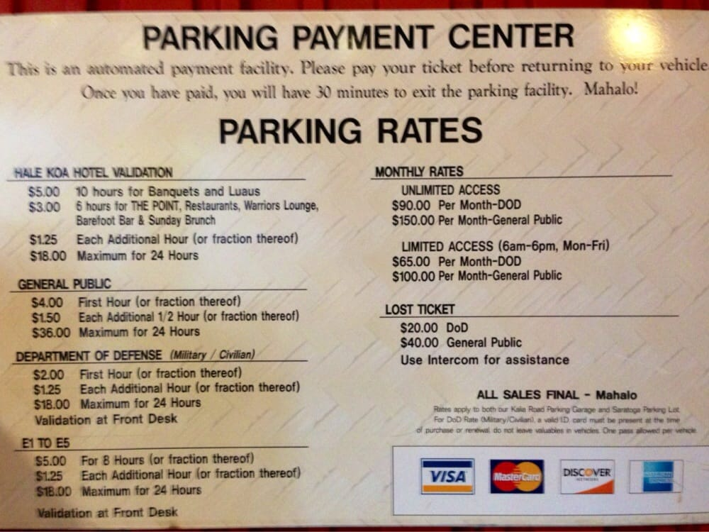 Here Are The Rates At The Hale Koa Ft Derussy Is The