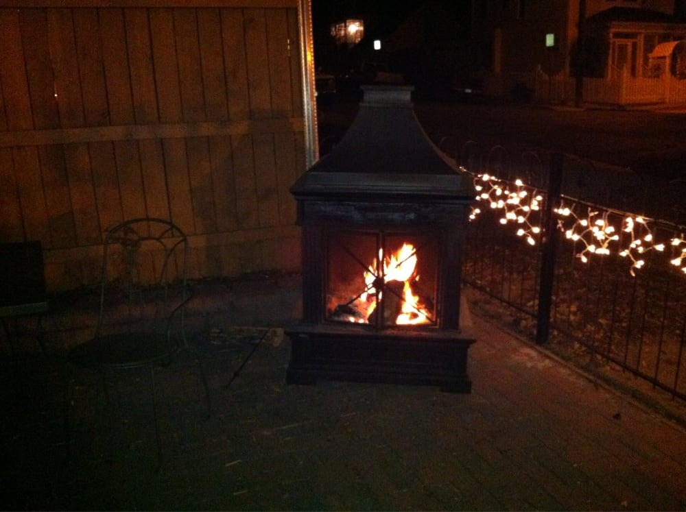 2South outdoor patio fireplace Yelp