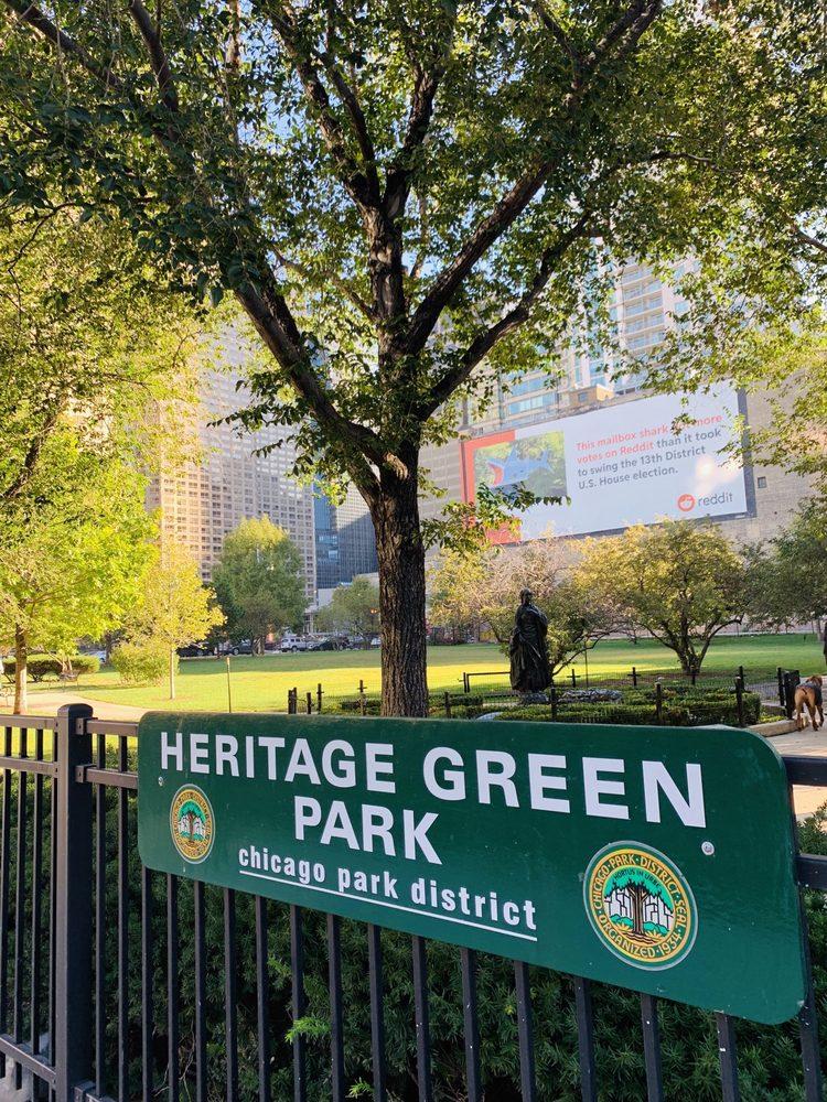 Heritage Green Park: 610-30 W Adams St, Chicago, IL