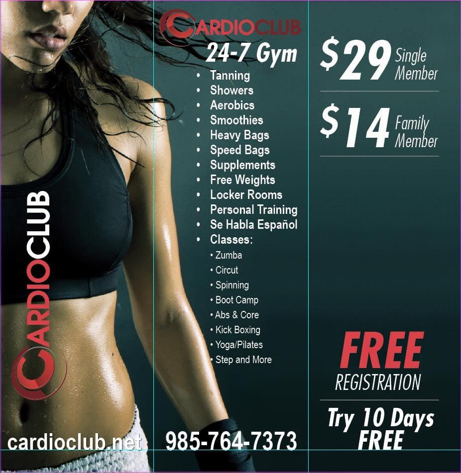 Cardio Club Coed Healthclub: 121 Ormond Center Ct, Destrehan, LA