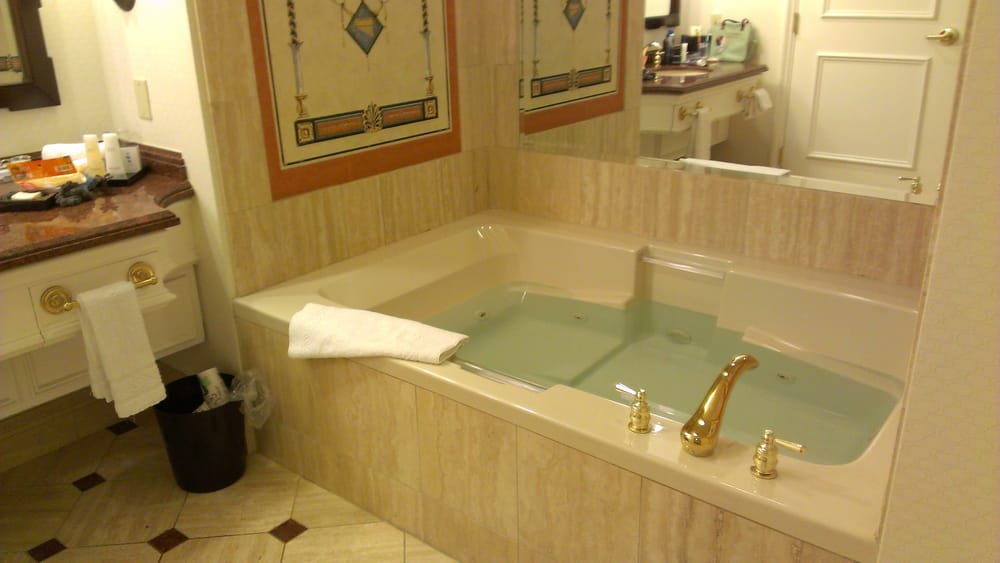 Getting ready for a relaxing bubble bath in our jacuzzi - Yelp