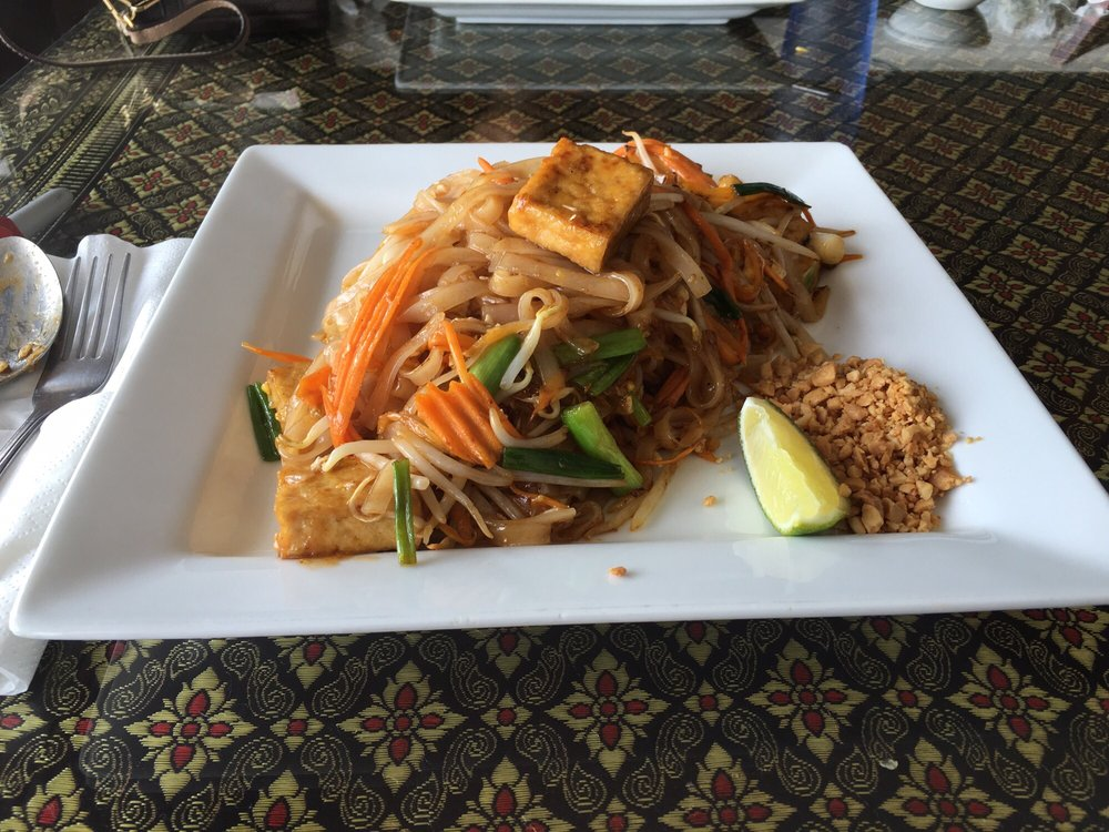 Tofu pad thai was fresh flavorful yelp for Aroy thai cuisine menu