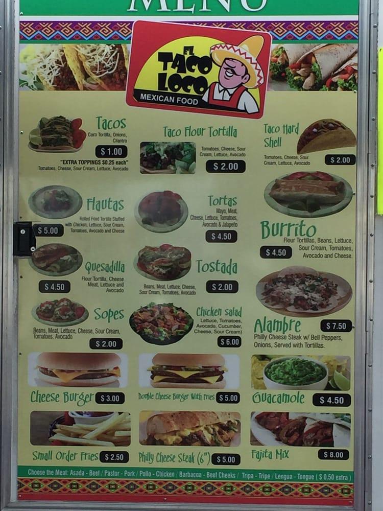 Taco Loco Mexican Food: 1081 Berkley Rd, Auburndale, FL