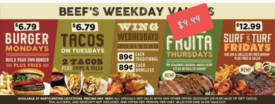 Beef 'O' Brady's: 300 Cypress Gardens Blvd, Winter Haven, FL