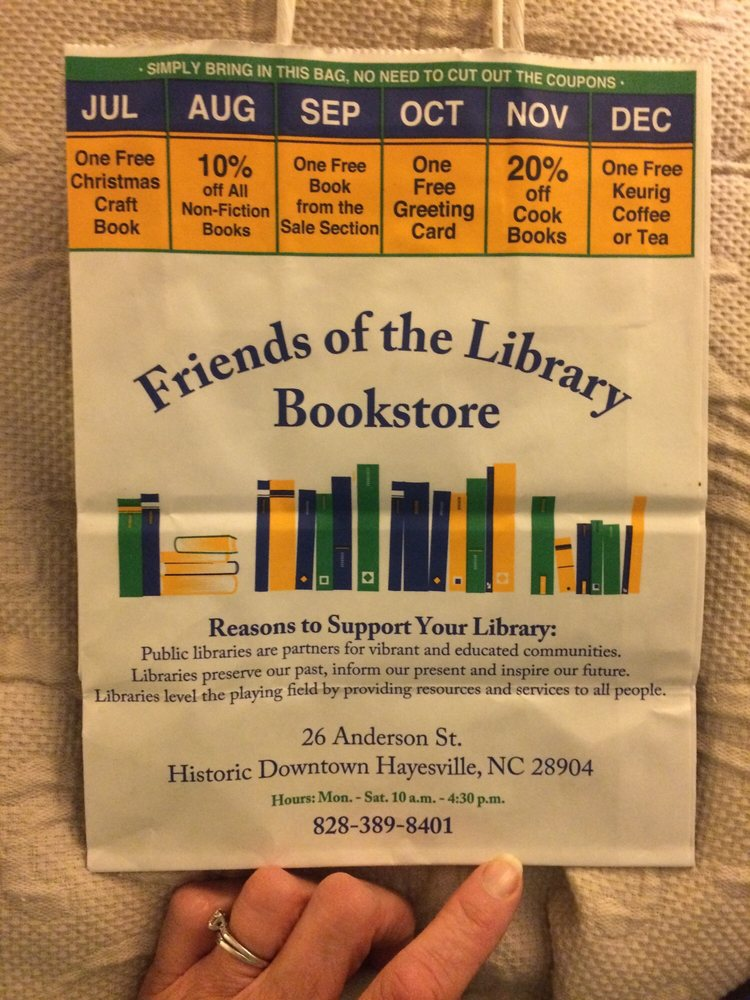 Friends of the Library Bookstore: 26 Anderson St, Hayesville, NC