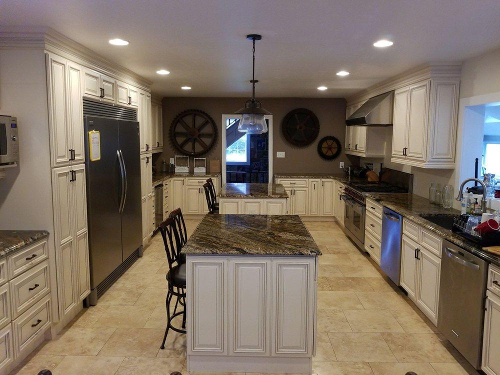 Kitchen With Magma Countertops From Stonetech Marble In Trenton NJ - Kitchen cabinets trenton nj