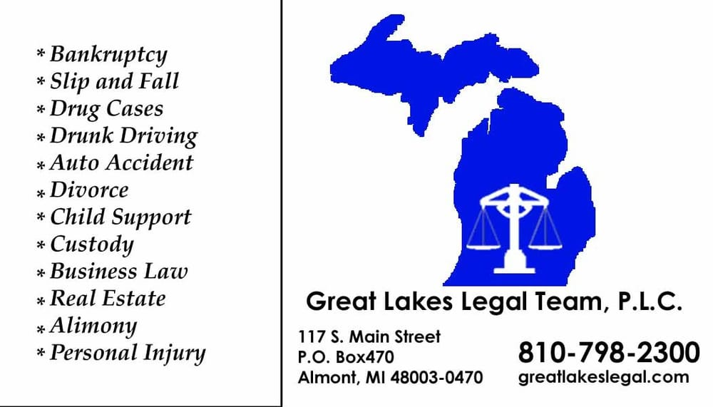 Great Lakes Legal Team: 117 S Main St, Almont, MI