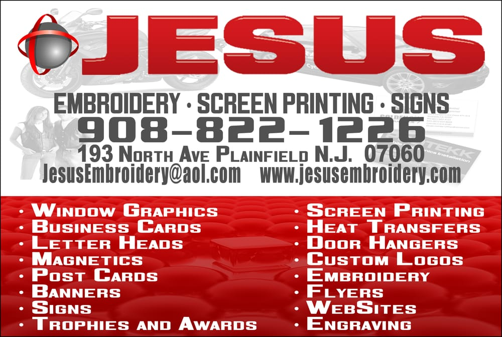 Jesus Embroidery & Screen Printing - Embroidery & Crochet - 193 N ...