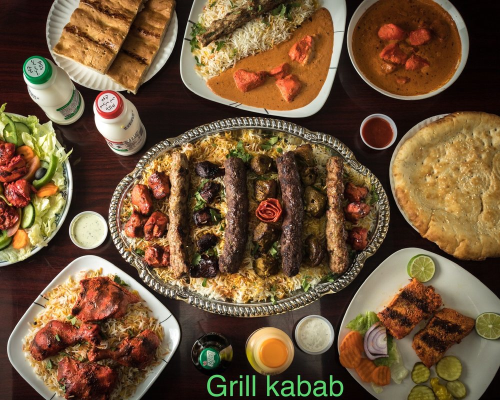 Food from Grill 352 & Kabab