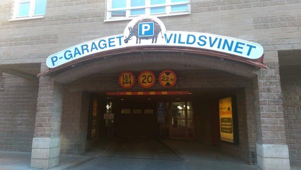 P Garaget Vildsvinet Parking Garages Alva Myrdals Gata 8