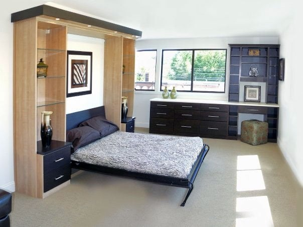 Murphy Fold Down Bed With Cabinetry On Either Side For