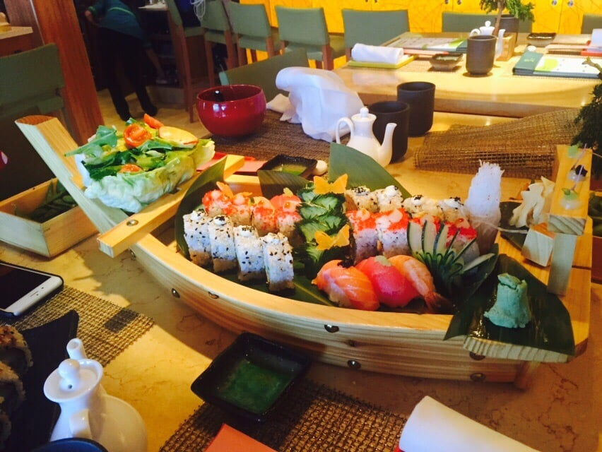 Sushi Boat From The Sushi Restaurant On The Ship Yelp