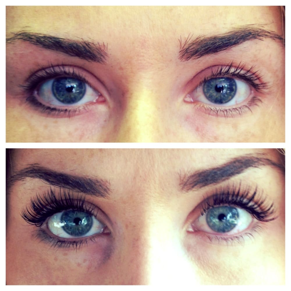 Before and after eyelash extensions! Beautiful & Natural ...
