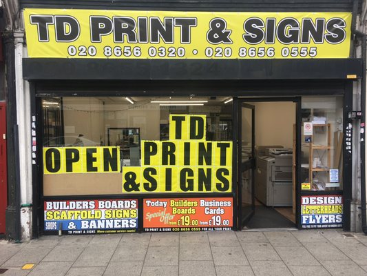 T d print printing photocopying 353 lower addiscombe road photo of t d print croydon london united kingdom td print signs reheart Images