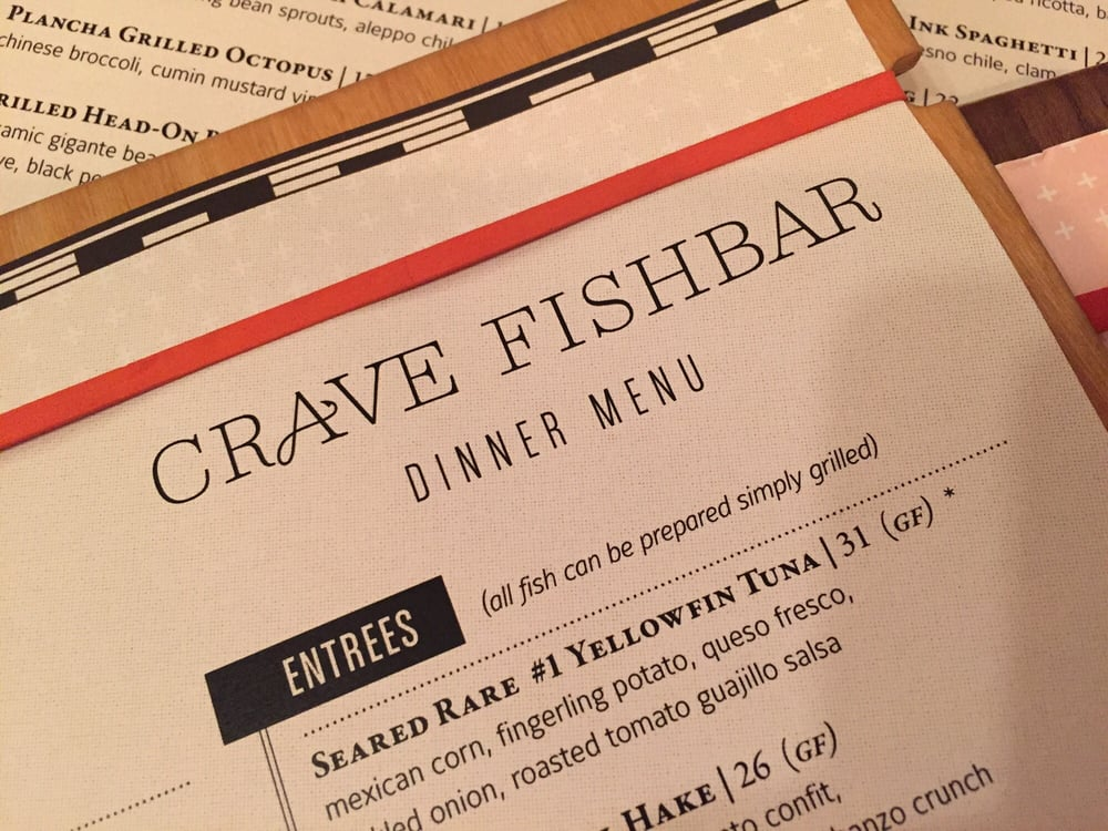 We 39 re here yelp for Crave fish bar