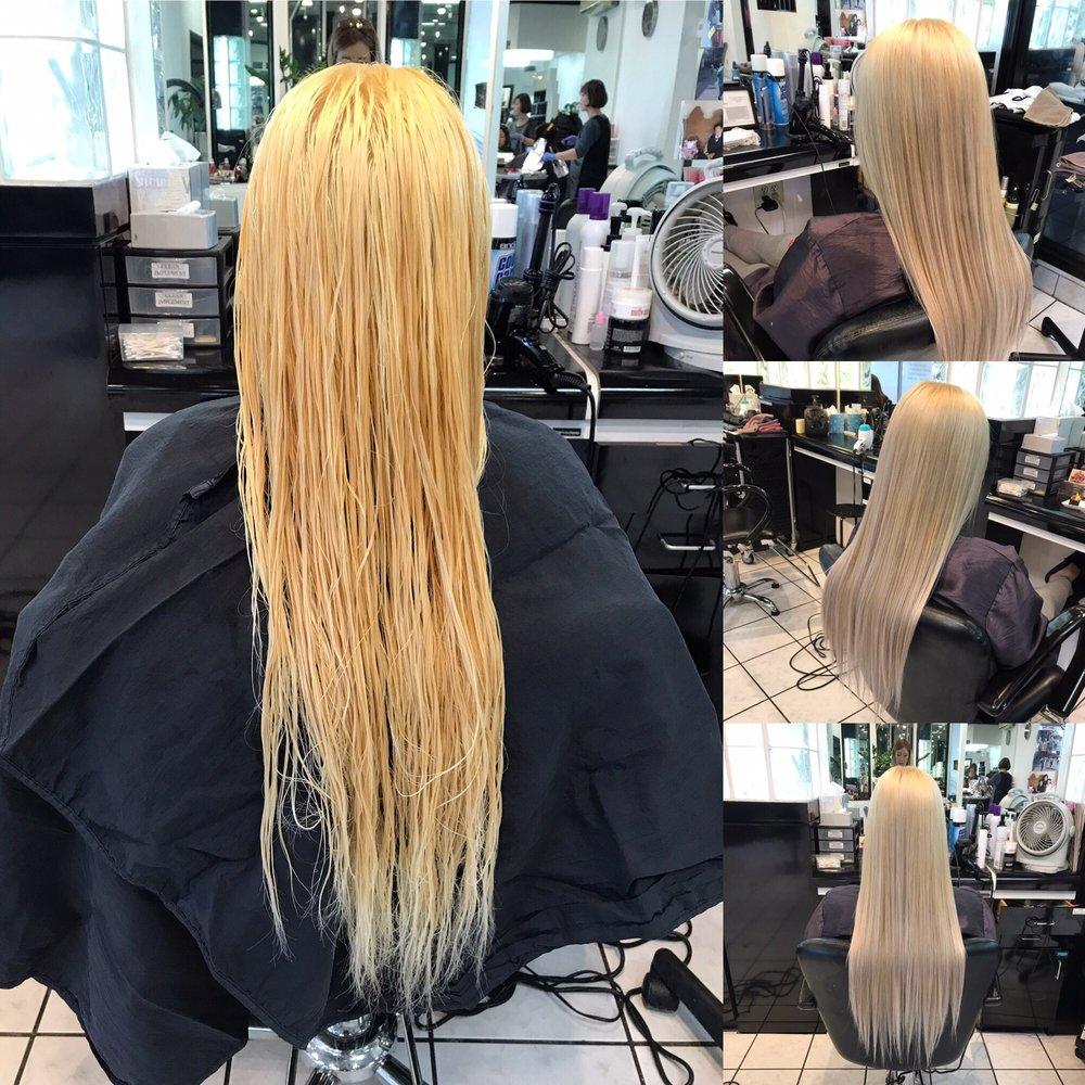 Platinum Blonde Hair With Silver Lavender Highlights By Jennifer Pi