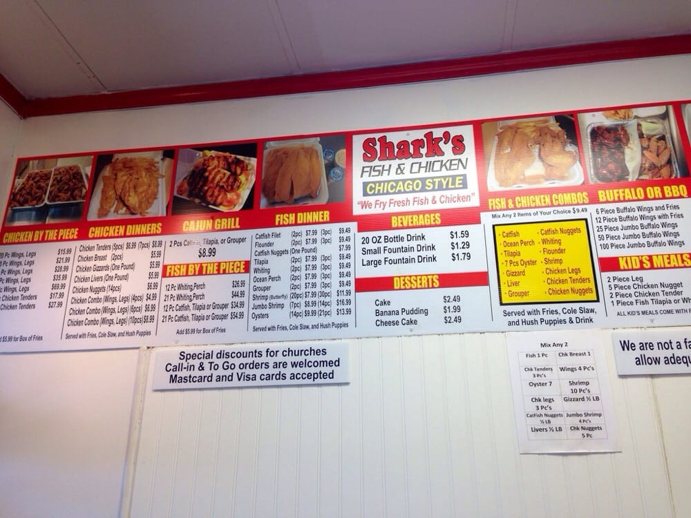 Sharks fish and chicken chicago locations - Northford family