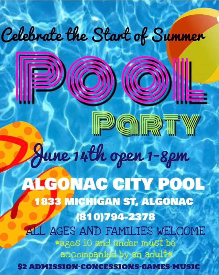Algonac Community Swimming Pool: 1833 Michigan St, Algonac, MI