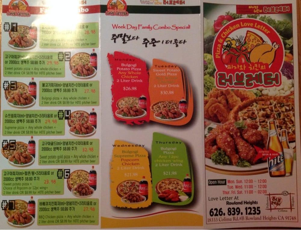 Takeout menu, front page   Yelp