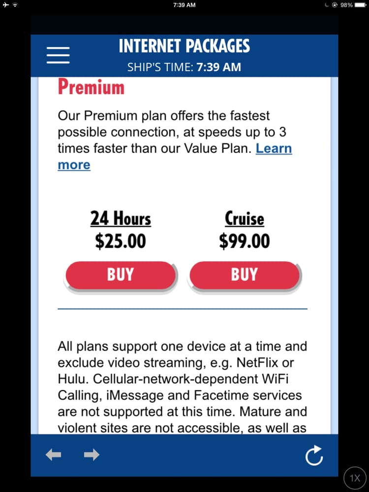 Their premium plan I think is the same as the value except