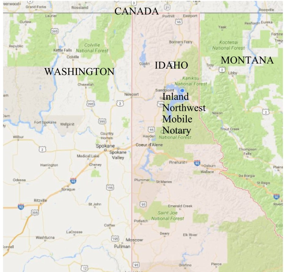 Inland Northwest Mobile Notary: Sandpoint, ID