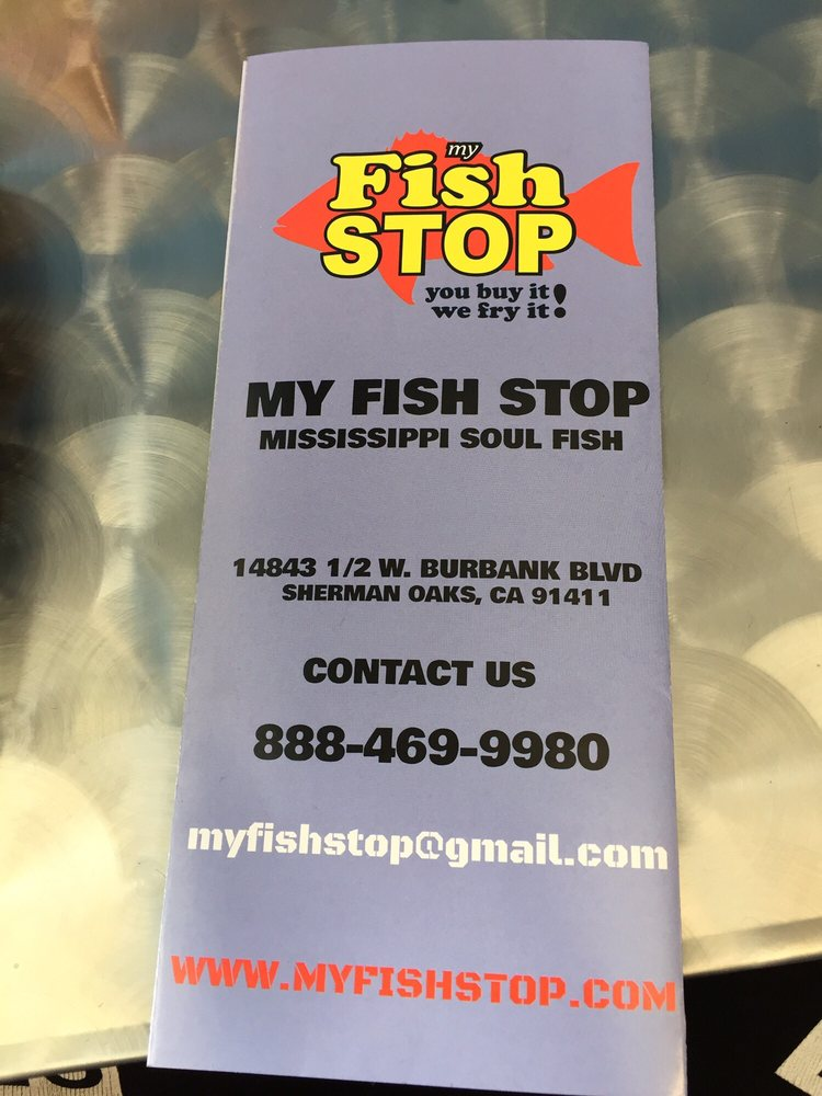 Brochure yelp for My fish stop