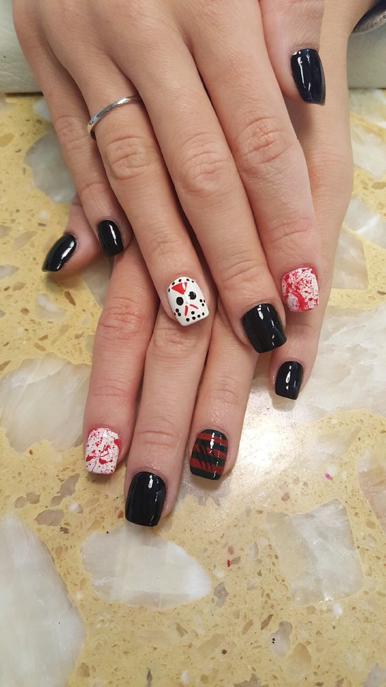 Freddie vs Jason Halloween nails - Yelp
