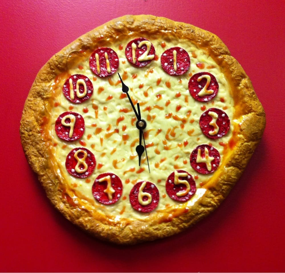 Undeniably Awesome Pizza Clock Yelp