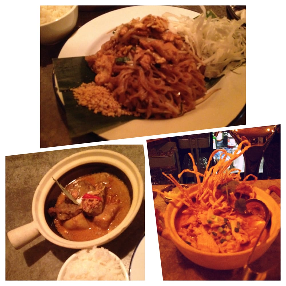 Thai Kitchen Pad Thai Top Pad Thai Bottom Left Chiang Mai Beef Noodle Soup With Rice