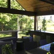 decks pergolas photo of vive exterior design fishers in united states outdoor kitchens