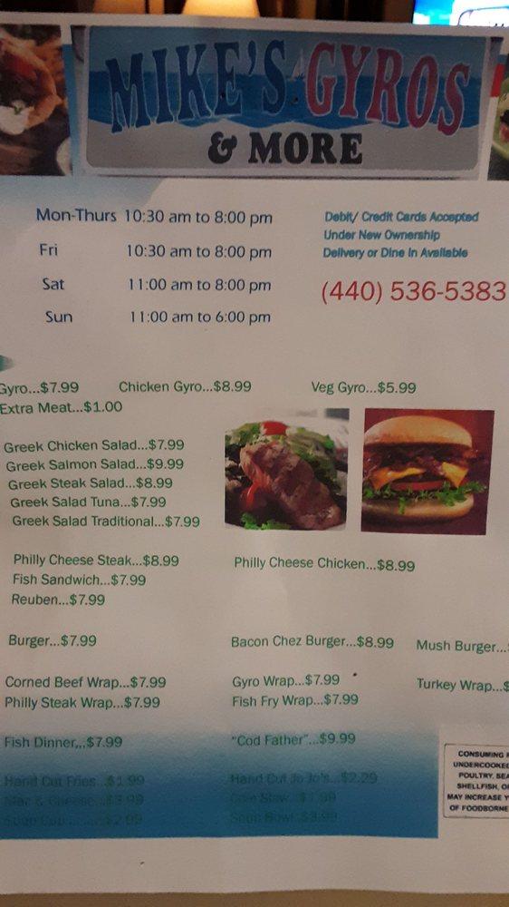 Mike's Gyro and More: 2405 Lake Ave, Ashtabula, OH