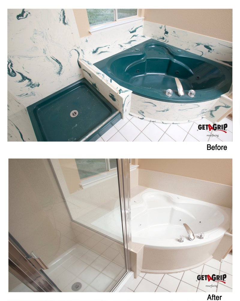 Residential two-tone Cultured Marble Jacuzzi Bathtub & Shower ...
