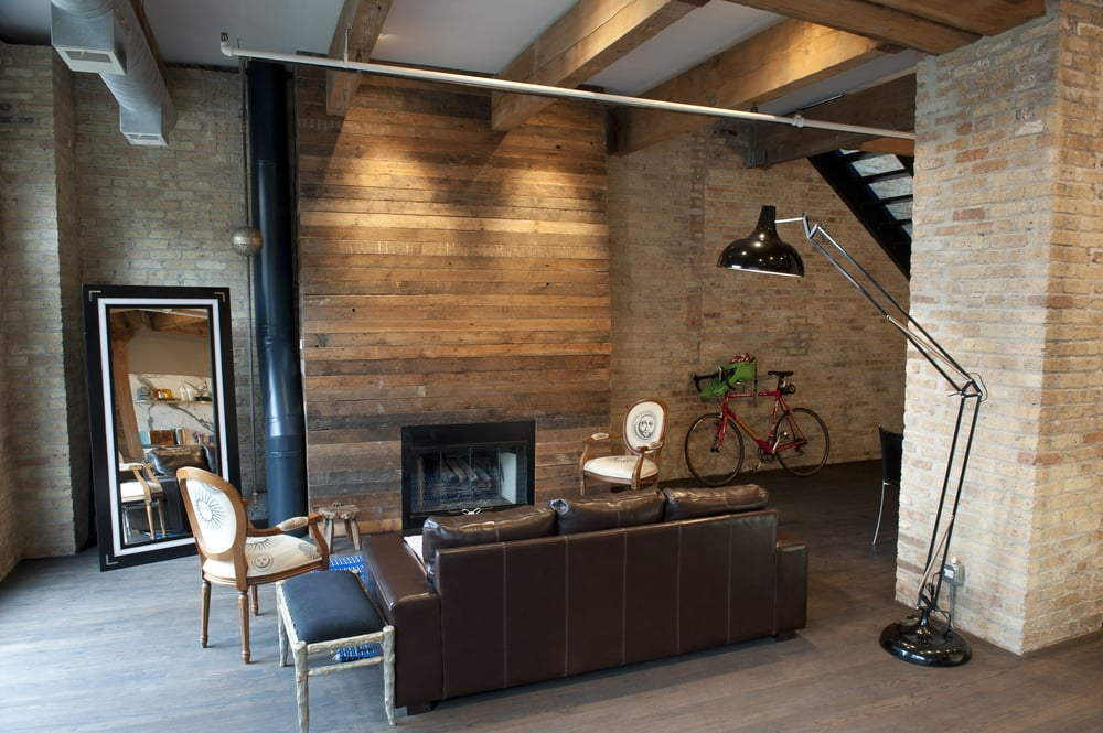 Erie Loft Reclaimed Wood Fireplace Surround Yelp