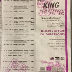 King George Chinese Restaurant King George Va
