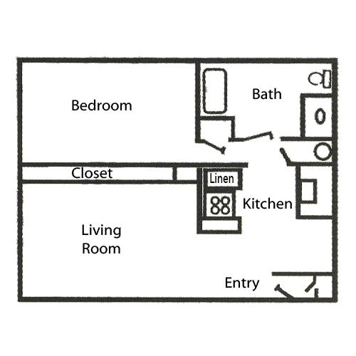 Regency Park Apartments: 672 Sq Ft