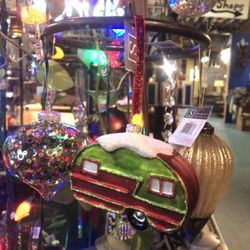 Photo Of Twelve Atlanta Ga United States Glass Rv Camper Ornament
