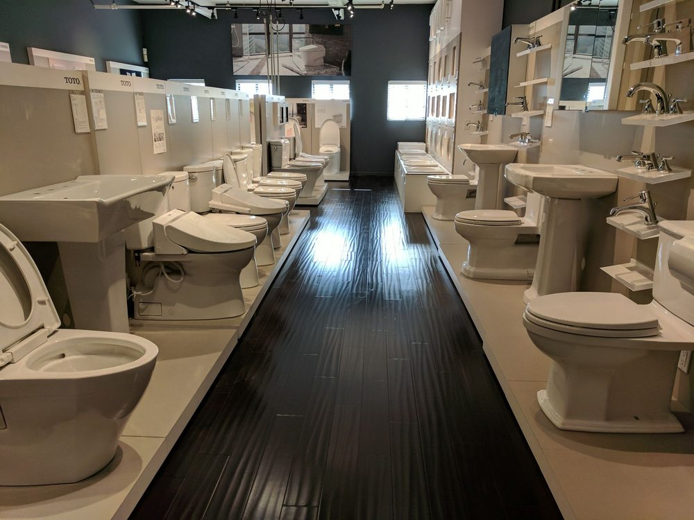 Entire room filled with Toto toilets - Yelp