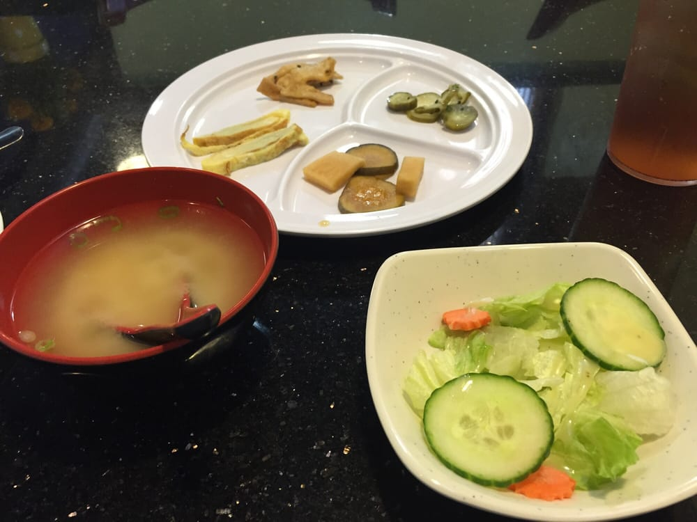 Salad Soup And Apps Included With Roll And Nigiri Sweet