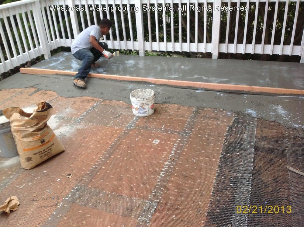 Deck waterproofing deck coating balcony repairs large for Balcony repairs