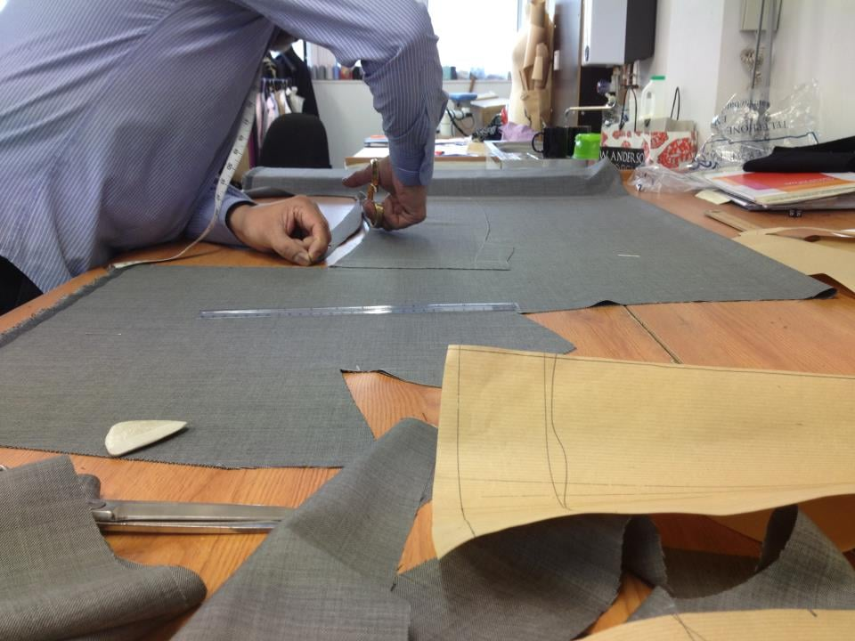 cutting of a ladies suit