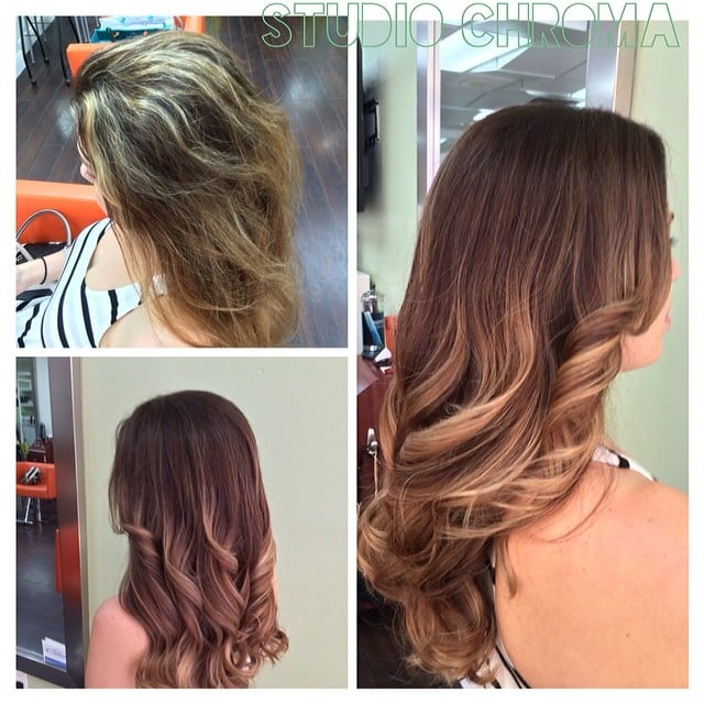 Emilee Created A Soft Natural Balayage Ombre Look From