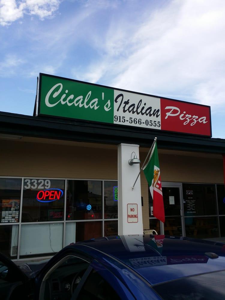 Cicala s italian pizza closed pizza 3329 fort blvd for Italian el paso tx
