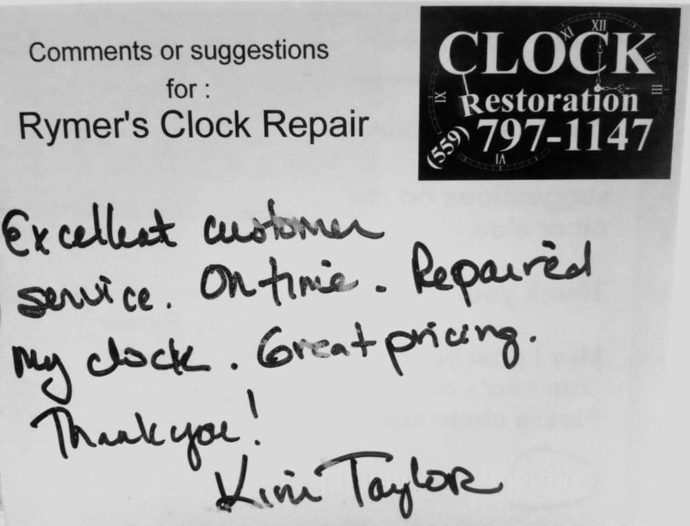 Rymer's Clock Repair: 17399 N Friant Rd, Friant, CA