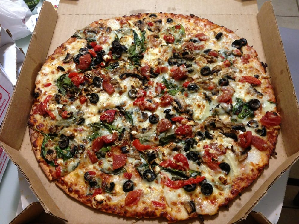 Pacific veggie 9 with coupon dec 2013 yelp for Domino pizza