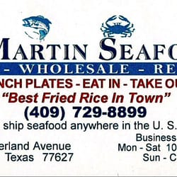 J martin seafood market closed seafood markets 3324 nederland photo of j martin seafood market nederland tx united states business card reheart Gallery